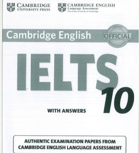 Giới thiệu sách Cambridge IELTS 10 mới nhất ( bản đẹp pdf + audio )