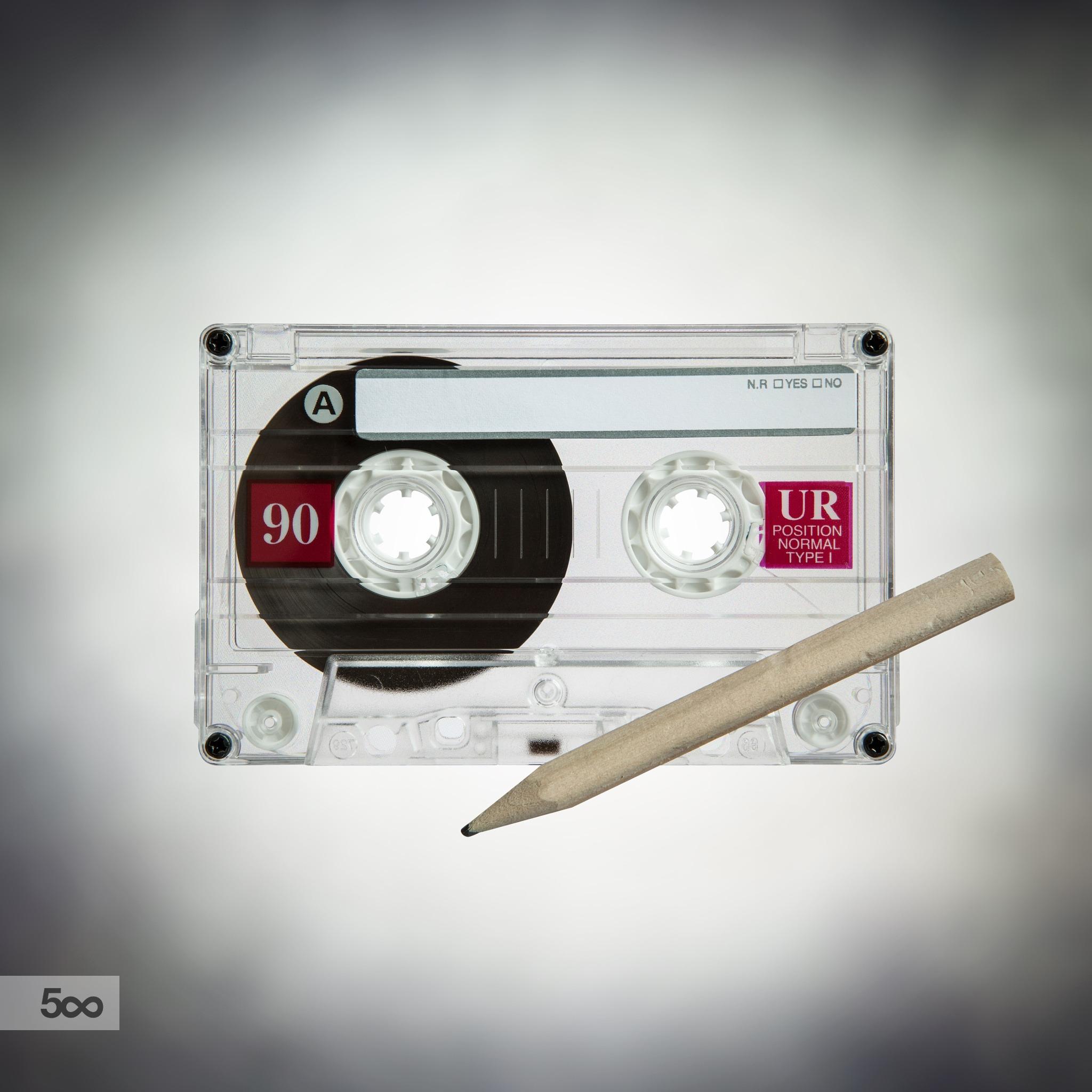 116698571-cassette-tape-pencil