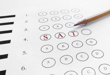 mutiple choice SAT